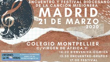 Encuentro y Festival de la Canción Misionera 2020